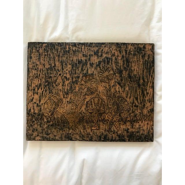 Handmade Wood Block Mushroom Art For Sale - Image 9 of 9