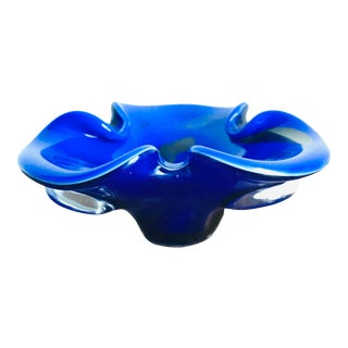 Vintage Mid Century Modern Murano Glass Ashtray or Catchall For Sale