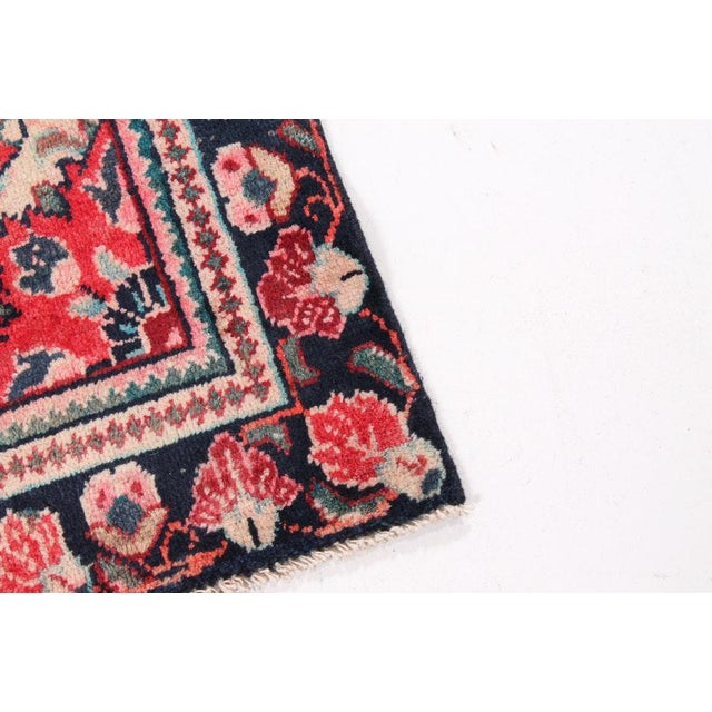 Vintage Floral Bessarabian Turkish Kilim Rose Rug - 3′11″ × 6′6″ For Sale - Image 4 of 7