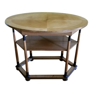 Antique Biedermeier Period Style Oval Occasional Table For Sale