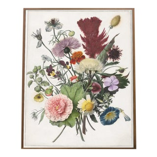 Vintage Still Life With Flowers Dutch Floral Boutique Print For Sale