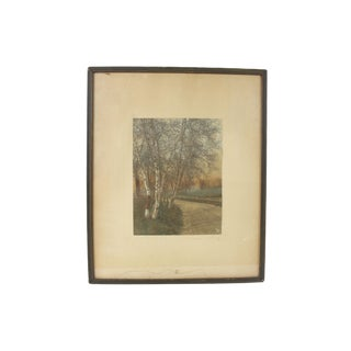 Wallace Nutting Signed Tinted Photograph For Sale