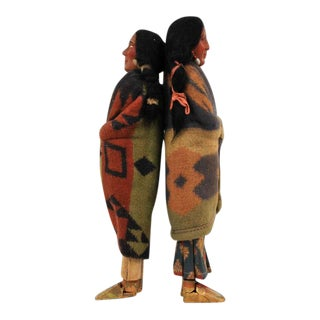 1940s Native American Skookum Dolls - a Pair For Sale