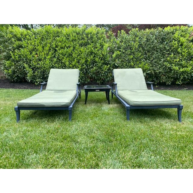 "Restoration Hardware Klismos collection. Included is TWO Klismos Chaise Lounge Chairs and cushions with ONE Klismos 22""..."