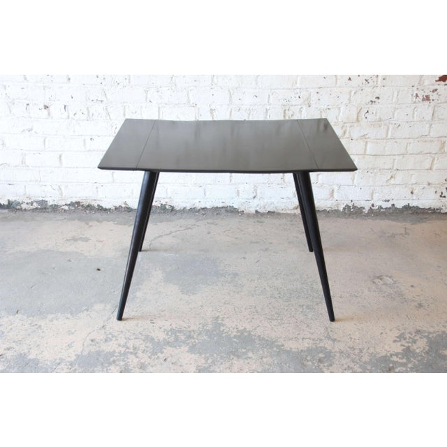 Mid-Century Modern Paul McCobb Planner Group Ebonized Dinette Table For Sale - Image 3 of 10