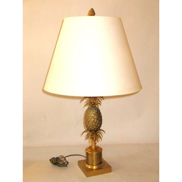 Superior french mid century brass pineapple table lamp attributed to french mid century brass pineapple table lamp attributed to maison charles image 3 of aloadofball Images