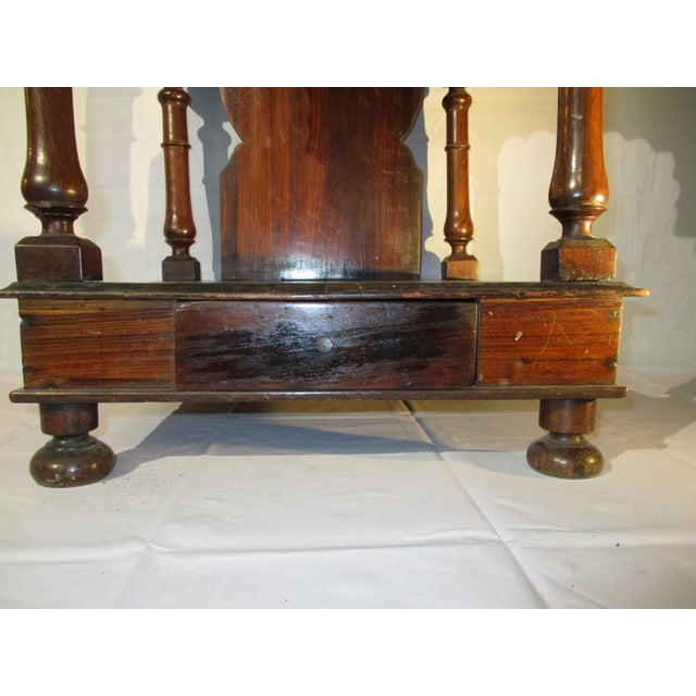 Carved rosewood Pooja shrine from South India. Classical design to house the images of the home. Late 19th century to...