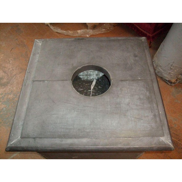 Traditional Zinc Planter with Ram's Head For Sale - Image 3 of 6