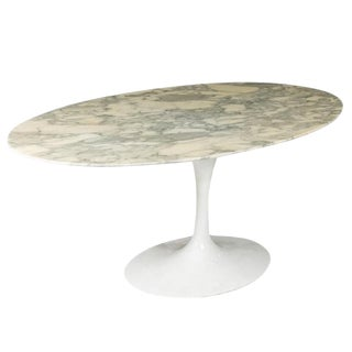 Carrara Marble Top Dining Table by Eero Saarinen For Sale