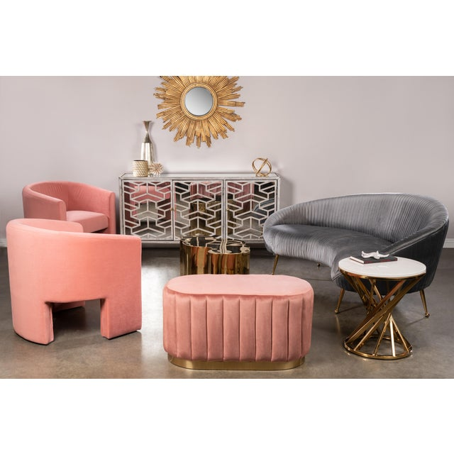 2010s Leblon Barrel Chair in Rose For Sale - Image 5 of 6