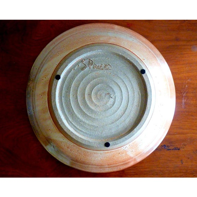 Studio Pottery Charger by Prieto For Sale - Image 4 of 5