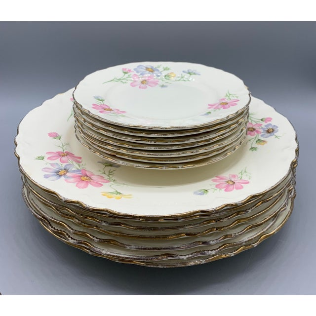 1940s Vintage Homer Laughlin's Virginia Rose Dinner Plates- 21 Pieces For Sale - Image 10 of 10