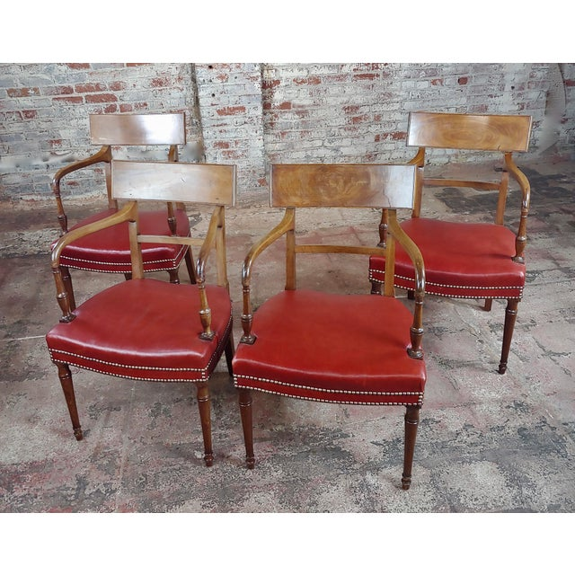 1820s Vintage George IV Mahogany Arm Chairs-Set of 4 For Sale - Image 10 of 10