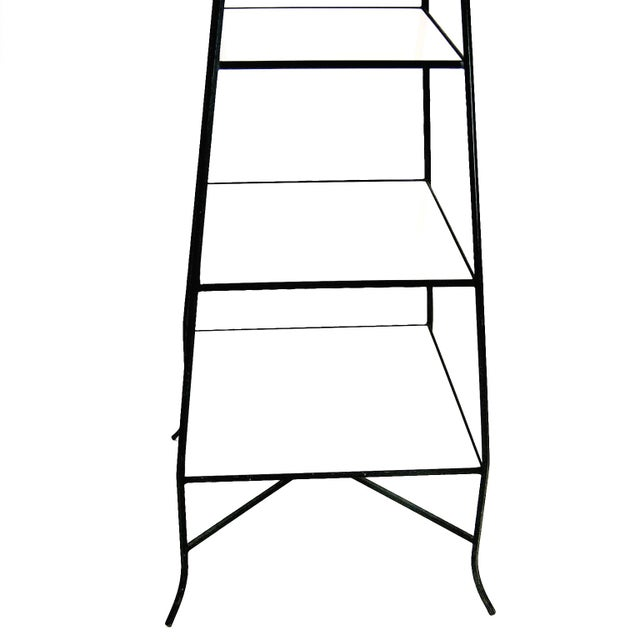 Tommi Parzinger Style Wrought Iron & Glass Etagere - Image 3 of 6