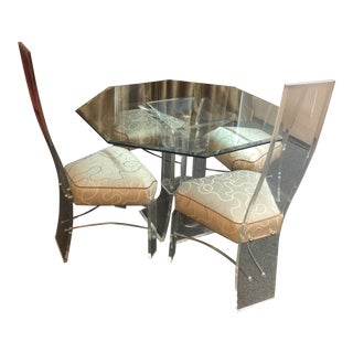 1970's Lucite Dining Set - 5 Pieces For Sale