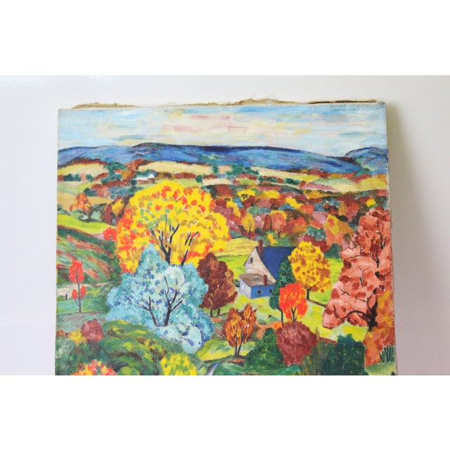Vintage Mid-Century Ede-Else Landscape Painting For Sale - Image 4 of 10