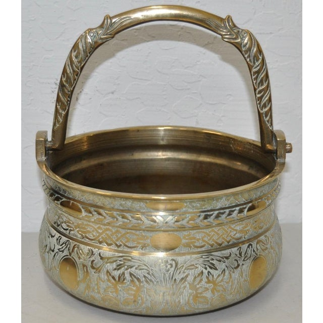 19th-Century Brass Pot with Dolphin Handle - Image 2 of 5