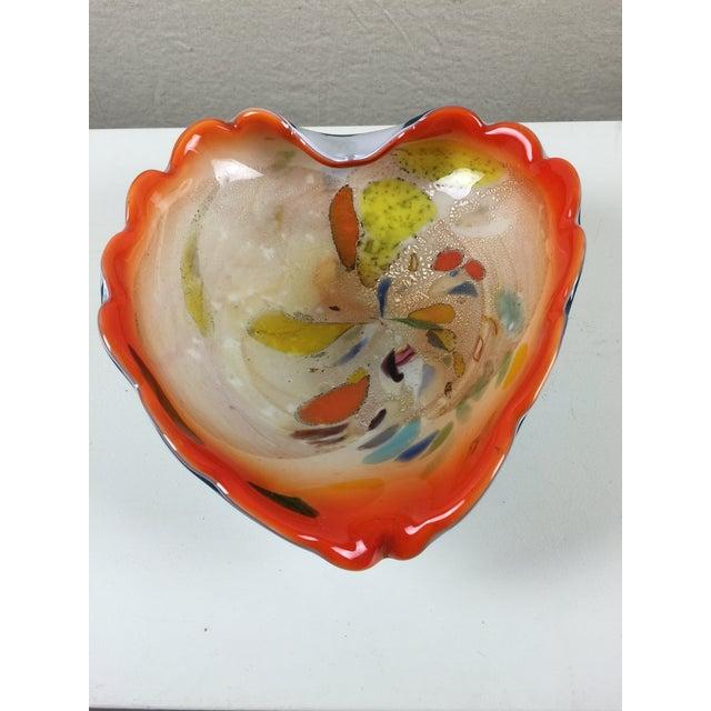Brilliant Orange Murano Glass Bowl - Image 3 of 6