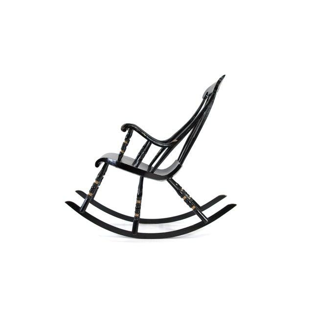Mid-Century Modern 19th Century Vintage Swedish Gungstol Rocking Chair For Sale - Image 3 of 12