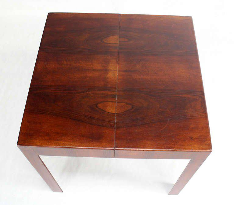 Sophisticated Oiled Walnut Italian Mid Century Modern Square Game