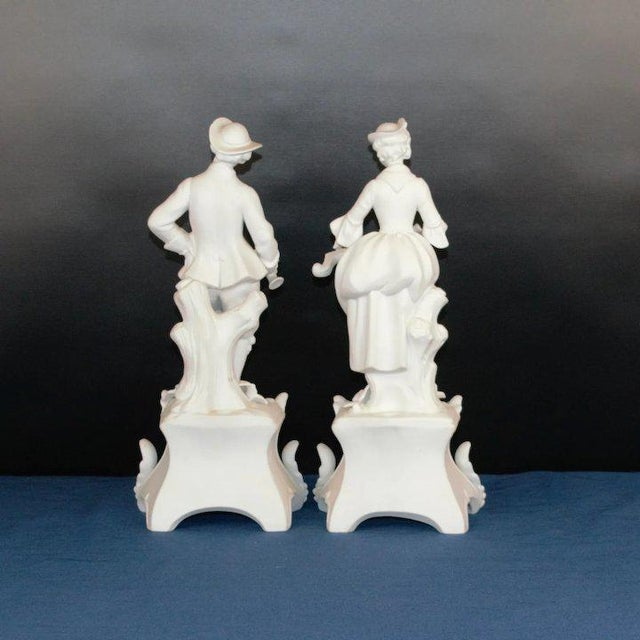 1920s Man and Woman Bisque Figures - a Pair For Sale - Image 4 of 8