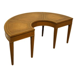 "20th Century Fine Arts Furniture Co. Duncan Phyfe 42"" Half Moon Accent Coffee Table For Sale"
