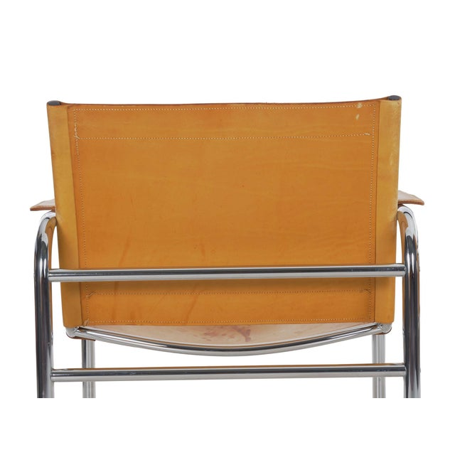 """Circa 1970s Vintage Chrome and Leather """"Klint"""" Arm Chairs by Tord Bjorklund - a Pair For Sale - Image 9 of 13"""