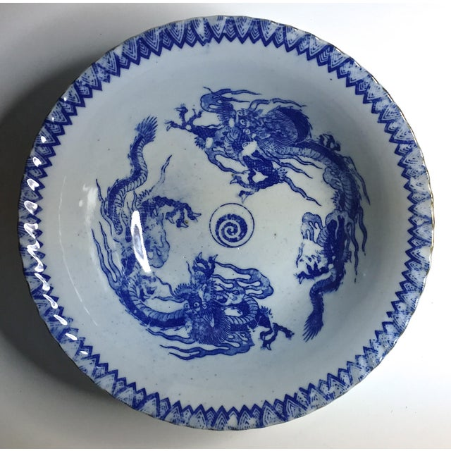 Vintage Chinese Transferware Dragon Bowls - A Pair - Image 2 of 7