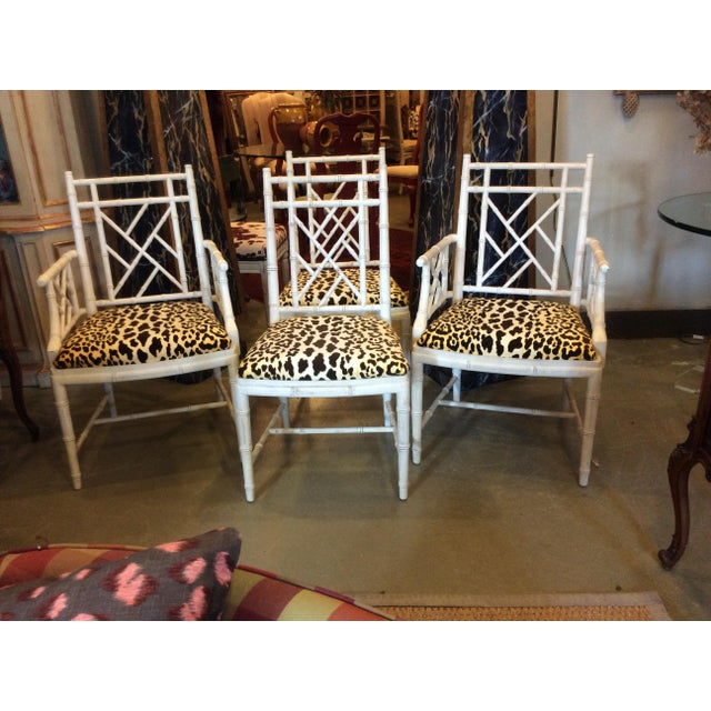Faux Bamboo Dining Chair - Set of 4 For Sale - Image 13 of 13