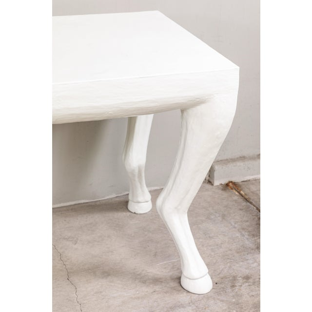 John Dickinson Cast Resin Console Tables - a Pair For Sale - Image 4 of 9