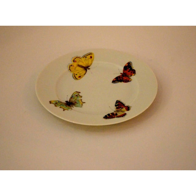 "S/7 Mid Century Modern L. Bernardaud Porcelain ""Butterfly"" Pattern Small Plates - Image 8 of 8"