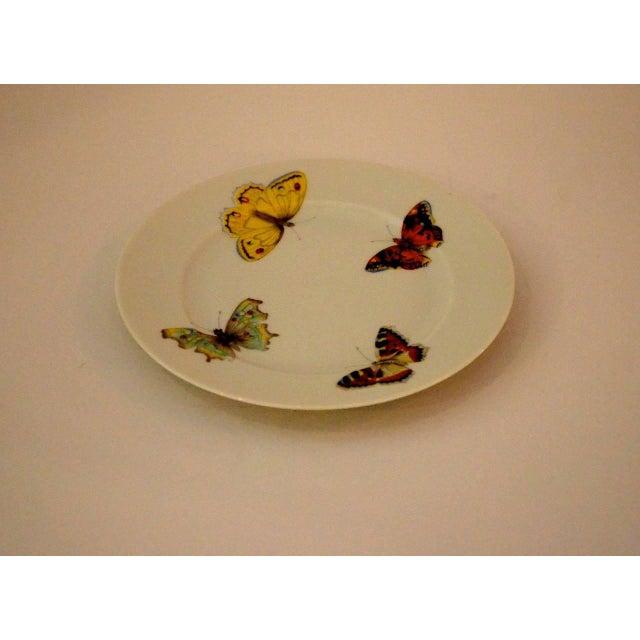 "S/7 Mid Century Modern L. Bernardaud Porcelain ""Butterfly"" Pattern Small Plates - Image 8 of 8"