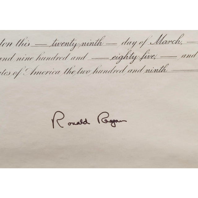 Ronald Reagan Signed Presidential Appointment to Thomas Paine for Space Commission For Sale - Image 4 of 7