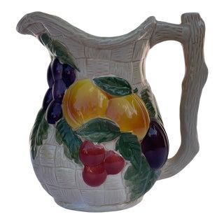 Vintage Avon Ceramic Fruit Pitcher For Sale