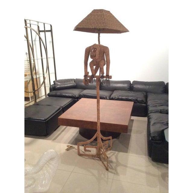 mario lopez torres wicker monkey floor lamp chairish