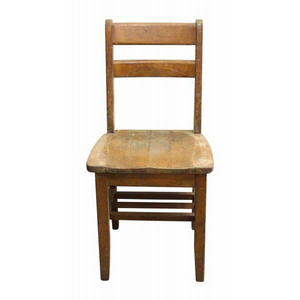 Classic vintage school chair with book rest on bottom. Surface wear. Large quantity available. Priced each.