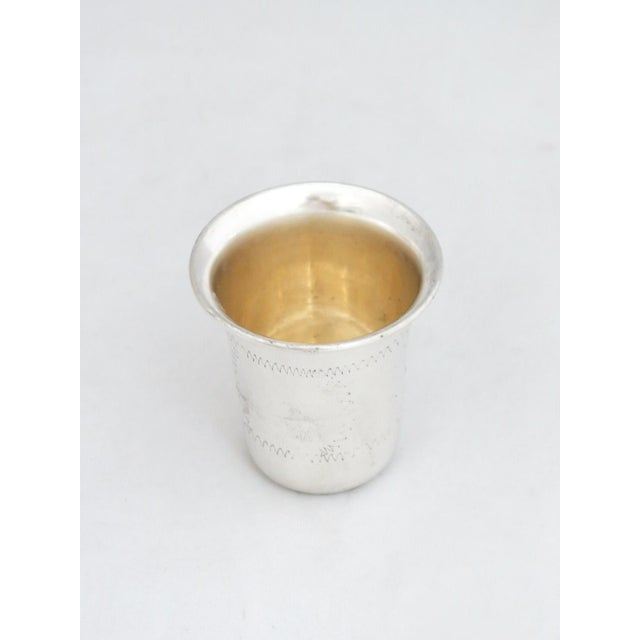 Esco Sterling Kiddush Cup/Jigger For Sale - Image 4 of 7