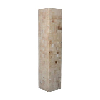 Tall Marquetry Onyx Floor Lamp