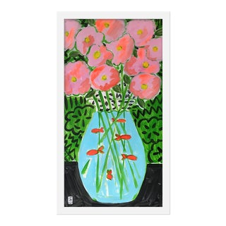 "Medium ""Flower Fish Bowl"" Print by Jelly Chen, 13"" X 23"""