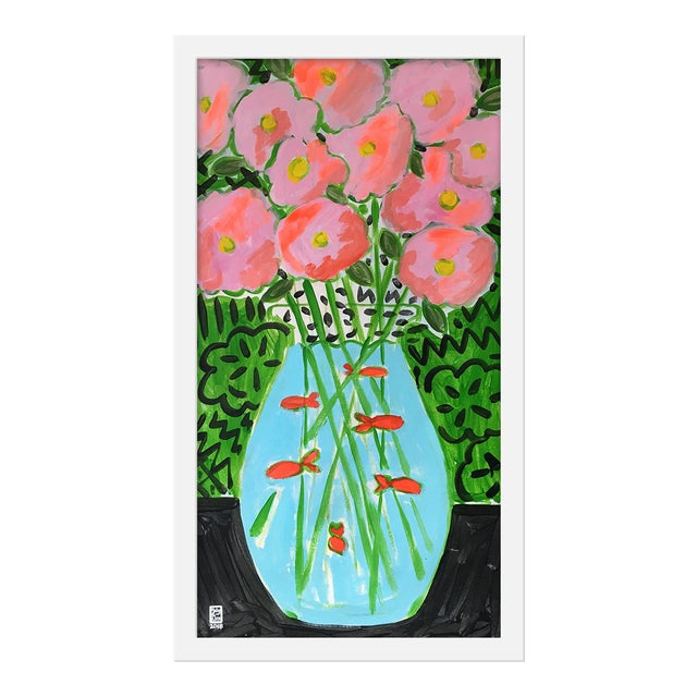 """Medium """"Flower Fish Bowl"""" Print by Jelly Chen, 13"""" X 23"""" For Sale"""