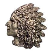 American bronze wall plaque of Indian head in profile (1st ¼ 20th Cent) For Sale