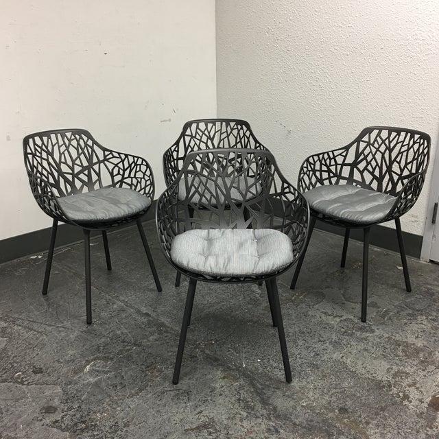 Janus Et Cie Metallic GreyForrest Dining Chair - Set of 4 - Image 9 of 10