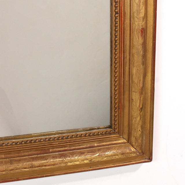 19th Century French Louis Philippe Gilt Mirror With Floral Design For Sale In San Francisco - Image 6 of 11