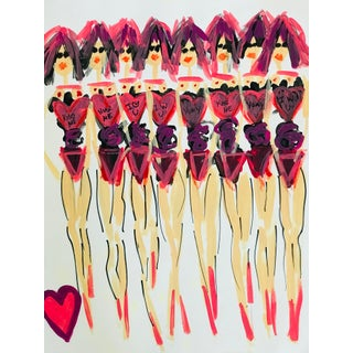 "Fashion Pop Art Painting, ""Heart"" For Sale"