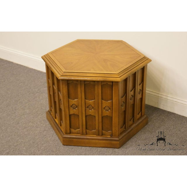 Spanish Drexel Esperanto Collection Hexagonal Storage End Table For Sale - Image 3 of 13