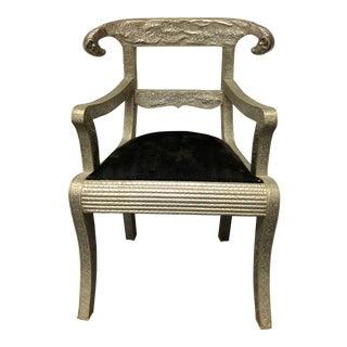 Angelo-Indan Rams Head Dowry Arm Chair