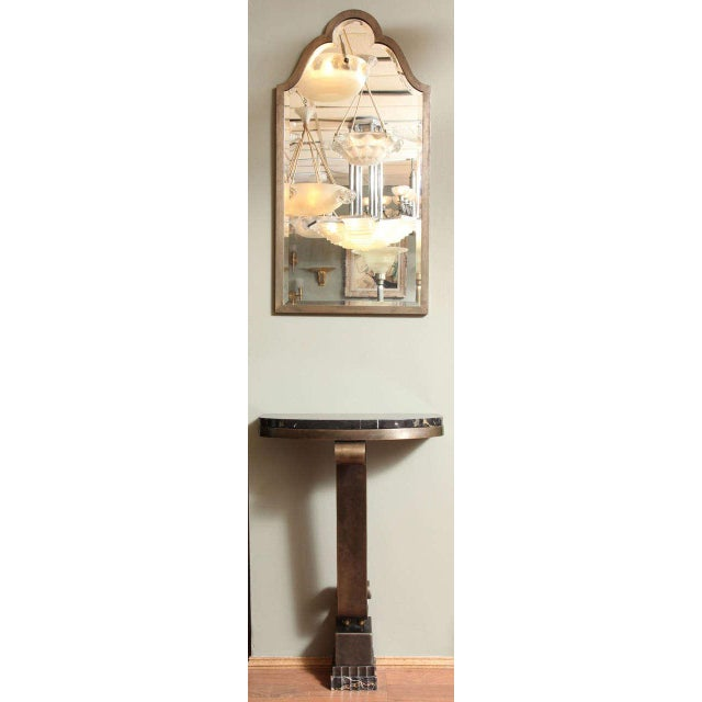 French Art Deco Console with Mirror Attributed to Raymond Subes For Sale - Image 10 of 10