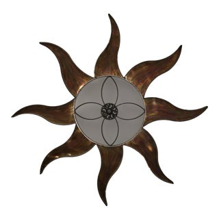 Mixed Metal Sun Wall Hanging For Sale