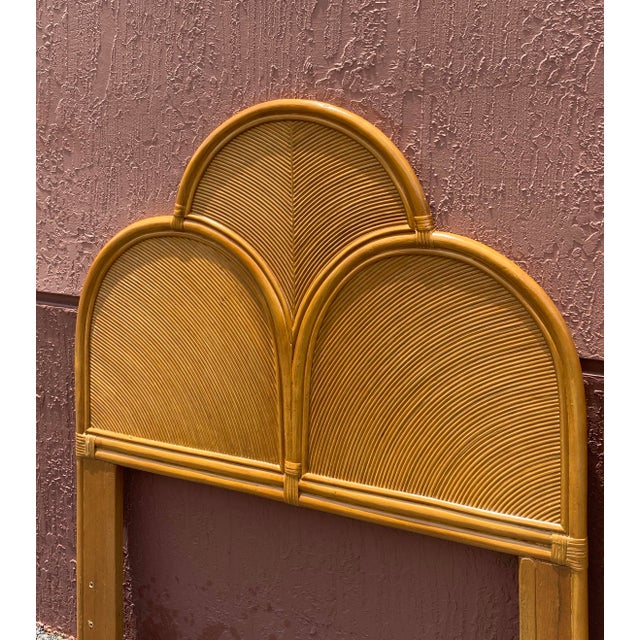 Vintage Pencil Reed Headboards - a Pair For Sale In Miami - Image 6 of 13