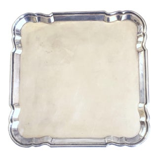 English Footed Salver/Waiter/Card Tray For Sale